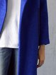 Royal Blue Wool Blend Zipper Elegant Coat