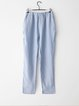 Light Blue Casual Pockets Straight Leg Pants