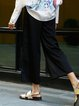 Black H-line Statement Pockets Wide Leg Pants