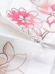 Paneled Lace Floral Crew Neck Short Sleeve Midi Dress
