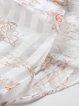 Paneled Lace Floral Crew Neck Shorts Sleeve Midi Dress