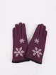 Floral Jacquard Wool Blend Gloves