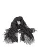 Solid Simple Fringed Scarf