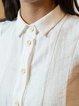 White Short Sleeve Shirt Collar Blouse