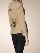Buttoned Cotton Solid Long Sleeve Trench Coat With Belt