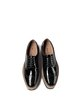 Black Leather Spring/Fall Platform Lace-up Oxfords