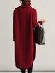 Shift Cotton Casual Turtleneck Dress