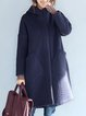 Plus Size Cotton Long Sleeve Hoodie Outerwear
