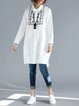 White Shirt Collar Embroidered Cotton Casual Linen Top