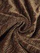 Coffee V Neck Velvet Elegant Midi Dress