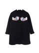 Long Sleeve Eagle Embroidered Casual Coat