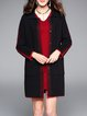 Simple Open Front H-line Long Sleeve Coat