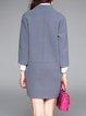 Plain Long Sleeve Pockets H-line Coat