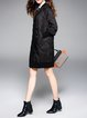Casual Plain Long Sleeve H-line Longline Pockets Down Coat