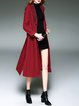 Wool Blend Long Sleeve Embroidered Casual Slit Coat