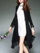 Asymmetric Long Sleeve Solid Coat