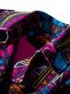 Printed Casual Long Sleeve Lapel Coat