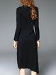 Long Sleeve Vintage Stand Collar Floral Printed Midi Dress