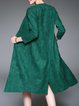 Green Solid Pockets Casual Coat