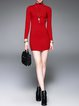 Knitted Ribbed Casual Long Sleeve Sweater Dress