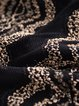 Black Jacquard Casual Stand Collar Top