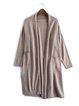 Plain Viscose Knitted Casual Long Sleeve Cardigan