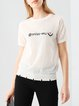 Embroidered Casual H-line Knitted Short Sleeved Top
