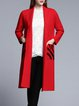 Red Lapel Wool Long Sleeve Coat