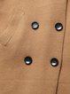 Khaki Lapel Cashmere Plain Simple Buttoned Coat
