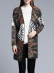 Gray Casual Knitted H-line Cardigan