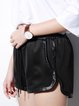 Black Pockets Casual H-line Plain Short