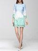 Multicolor 3/4 Sleeve  Midi Dress