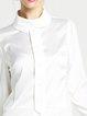 Paneled Casual Long Sleeve Polyester Mini Dress