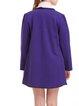 Purple Lapel Long Sleeve Coat