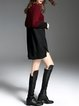 Long Sleeve Casual Color-block Asymmetric Mini Dress