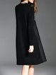 H-line Casual Crew Neck Long Sleeve Midi Dress