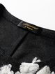 Appliqued Plain Long Sleeve Crew Neck Casual Midi Dress