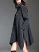 Gray Casual Solid Asymmetrical Pockets Sweater Dress