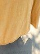 Casual Long Sleeve Asymmetrical Linen Dress