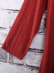 Casual Crew Neck Long Sleeve Asymmetrical Linen Dress