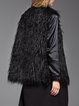Black H-line Acrylic Sleeveless Vest