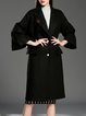 Bell Sleeve Lapel Simple Solid Beaded 3/4 Sleeve Coat