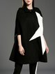 Sleeveless Color-block Casual Poncho And Cape