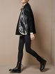 Black H-line Embroidered Street Graphic Coat