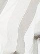 Gray Half Sleeve Buttoned Stripes V Neck Blouse