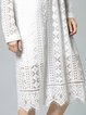 Long Sleeve Embroidered Shift Sexy Midi Dress
