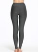 Deep Gray Stretchy Wicking Polyester Bottom Pants (Sportswear for Running)