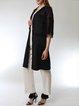 Black Guipure Lace Cotton Elegant Plus Size Kimono