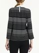 Black Stripes Casual Long Sleeved Top