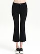 Black Casual Plain Flared Pants